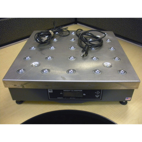 NCI 7880-125 250lb Ball Top Weight Classifier Shipping Scale