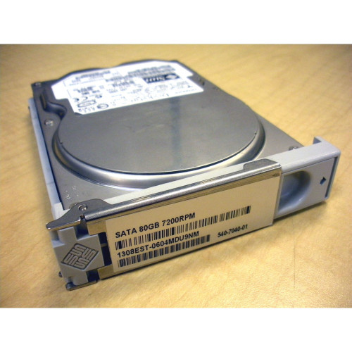 Sun 540-7040 XRC-ST1CE-80G7K 80GB 7.2K SATA Hard Drive w/ Spud Bracket for Ultra 25