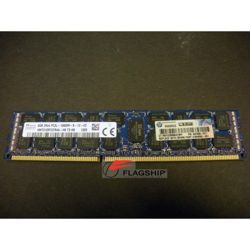 HP 647897-B21 664690-001 8GB (1x 8GB) PC3L-10600R-9 Dual-Rank Memory