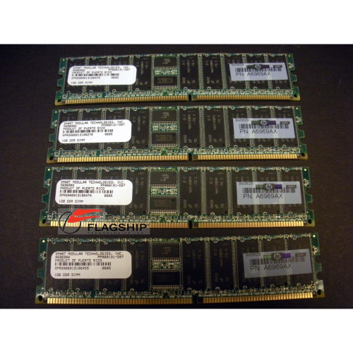 HP A6969A / A7130A / A9774A Original HP 4GB (4x 1GB) DDR PC2100 Memory Kit