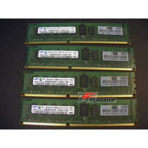 HP AH340A Superdome 2 16GB (4x 4GB) PC3-10600R-9 DDR3 Memory Kit (591750-371)
