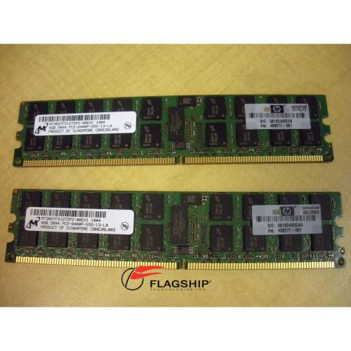 HP 497767-B21 8GB (2x 4GB) Memory Kit DDR2 PC2-6400 501158-001 499277-061
