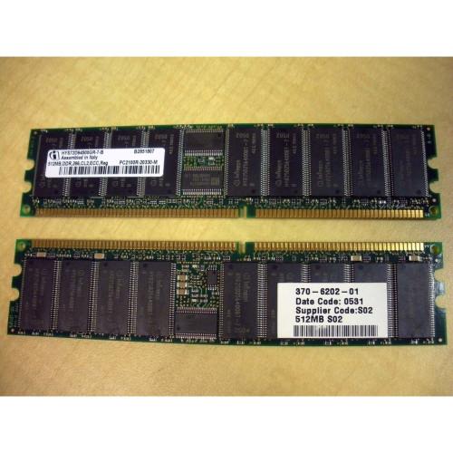 Sun X7603A 1GB (2x 512MB) Memory Kit 370-6202 via Flagship Tech