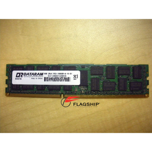 DRH1333R/8GB Dataram 8GB (1x 8GB) 2Rx4 DDR3 PC3-10600R-9 Memory Kit 500662-B21