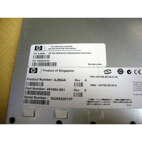 HP 8 Port 3GB SAS Blade Switch Module AJ864A 491684-001 451789-001
