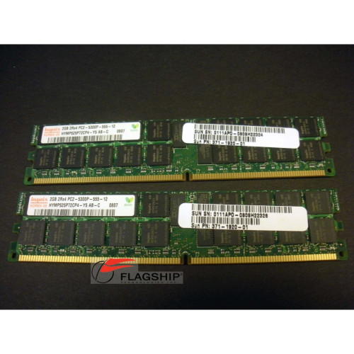Sun X4226A-Z 4GB (2x 2GB) Memory Kit (371-1920) for X4100 X4200