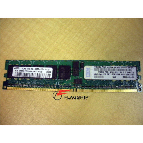 IBM 13N1424 512MB (1x 512MB) Memory DIMM PC2-3200 x226 8488 8648