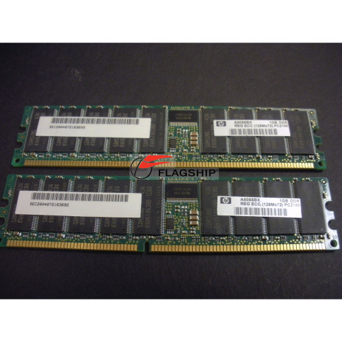 HP A8088B 2GB PC2100 DDR SDRAM 2X1GB Dimms Memory Kit via Flagship Tech