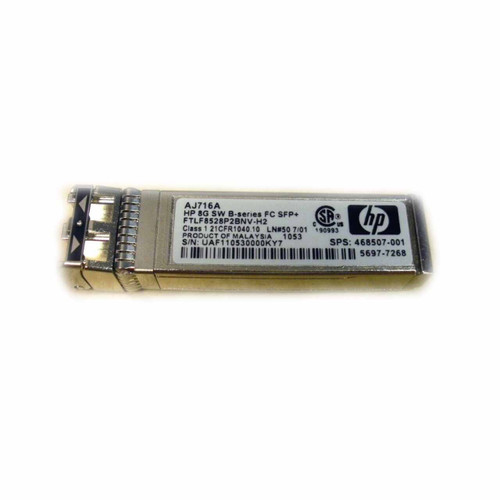 HP AJ716A 8GB SFP SW B-SERIES TRANSCEIVER 1PA
