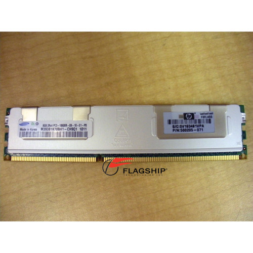 HP 500662-B21 501536-001 8GB (1x 8GB) DDR3 PC3-10600R-9 Memory Kit