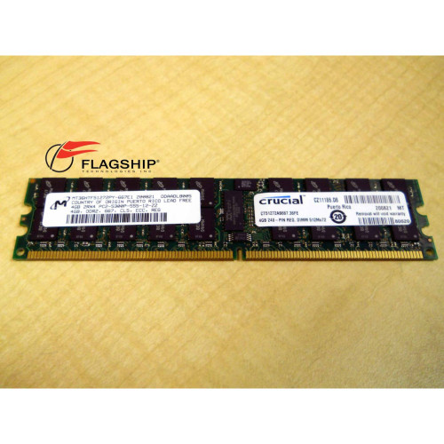 DELL G548K 4GB PC2-5300P 2RX4 667MHZ ECC REG DIMM