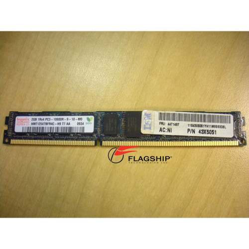 IBM 43X5051 44T1477 2GB (1x 1GB) Memory Kit PC3-10600R VLP