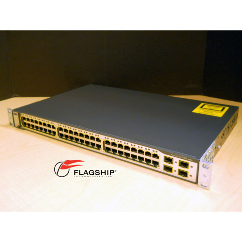 Cisco WS-C3750-48TS-S 48-Port Ethernet 10/100 + 4x SFP IT Hardware via Flagship Technologies, Inc, Flagship Tech, Flagship, Tech, Technology, Technologies