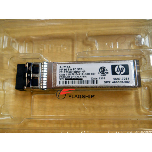 HP AJ718A 8GB SHORT WAVE FIBER CHANNEL SFP 1 PACK