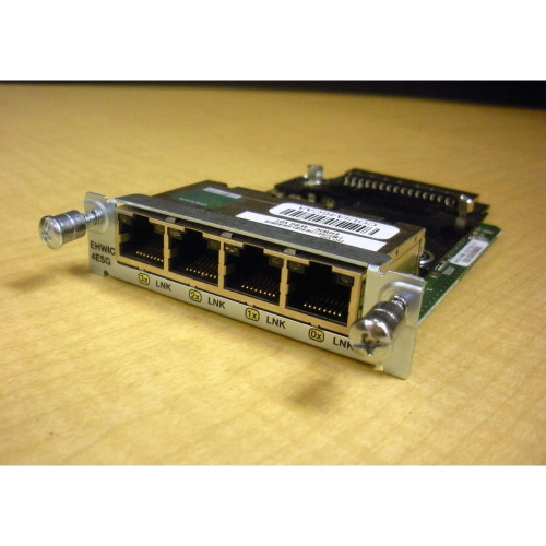 Cisco EHWIC-4ESG 4-Port Gigabit 10/100/1000 High-Speed WAN Card via Flagship Technologies, Inc - Flagship Tech