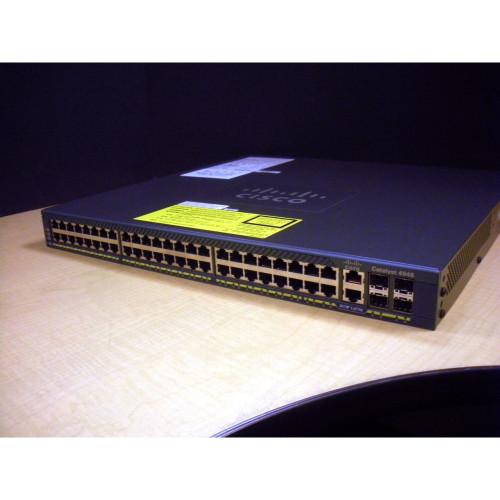 Cisco WS-C4948-E V12 Catalyst 48-Port 10/100/1000+4 SFP W/ 2 AC Power Supplies IT Hardware via Flagship Tech