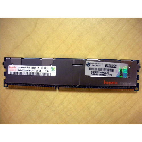 HP 593915-B21 500207-171 16GB (1x 16GB) 4Rx4 DDR3 PC3-8500R-7 Memory Kit via Flagship Tech