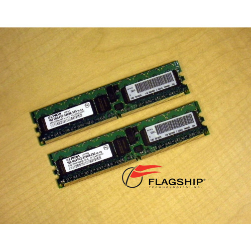 IBM 73P2866 2GB DDR2 PC3200 2x 1GB Kit IT Hardware via Flagship Technologies, Inc, Flagship Tech, Flagship, Tech, Technology, Technologies