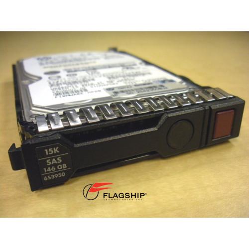 """HP 652605-B21 653950-001 146GB 15K 6G SAS DP SFF 2.5"""" SC Enterprise Hard Drive"""