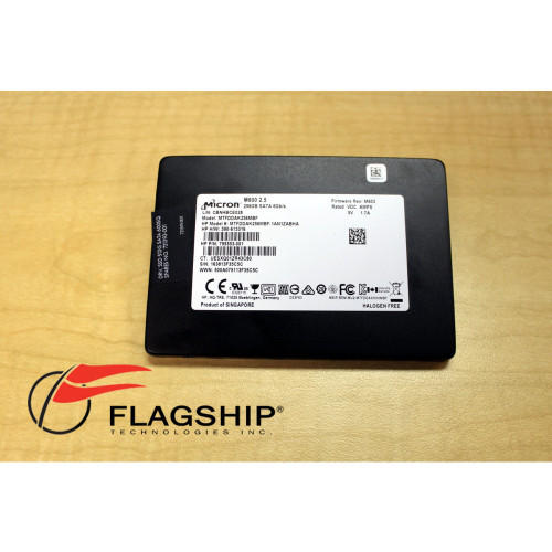 Micron MTFDDAK256MBF 256GB 2.5 SATA M600 SDD via Flagship Tech