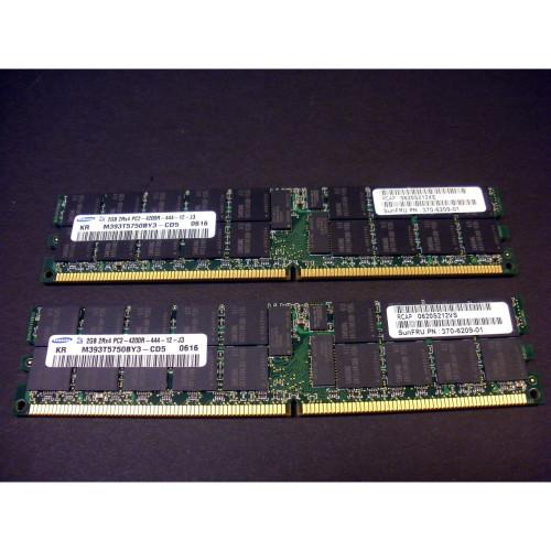 Sun X7802A 4GB (2x 2GB) Memory Kit for T1000 T2000 (370-6209) via Flagship Tech