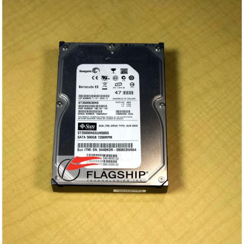 SUN 390-0355 500gb 7200RPM SATA Hard Drive Disk
