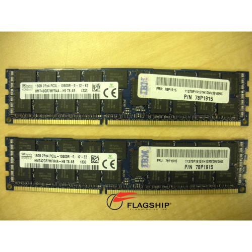 IBM EEME 32GB (2x 16GB) DDR3 Memory Kit for Power7 78P1915 31FB