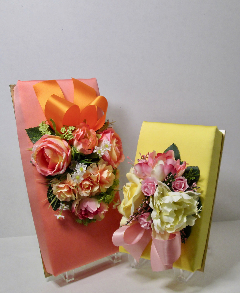 Silk-wrapped Truffle Gift Box with Flowers - 16, 24, 36 or 72 pieces