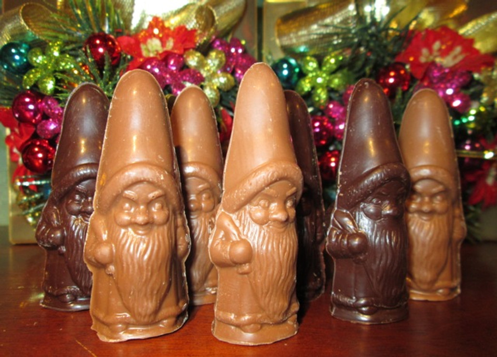 Solid Chocolate Gnomes - a Pair