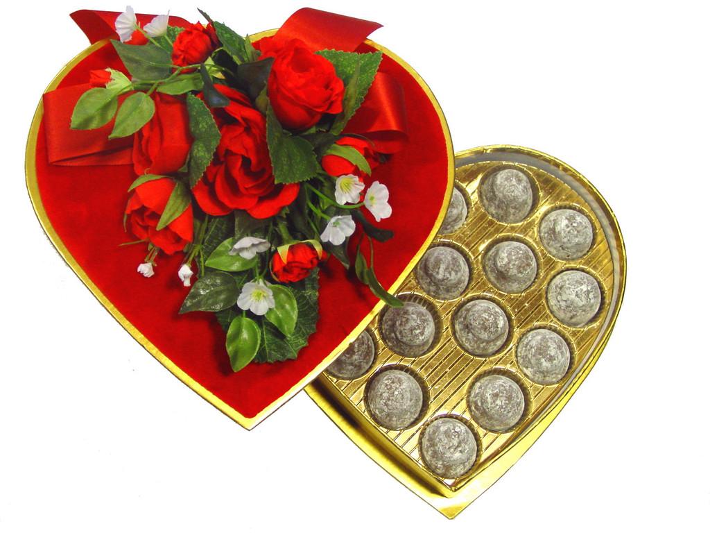 Valentines Day Chocolate Truffle Heart Box (6, 10, 13, 23 pcs)