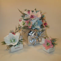 """Holiday """"White Collection"""" Flower  Gift Box  -    1, 4, 6, 9, 16, 20, 25, 32, 48 pieces"""