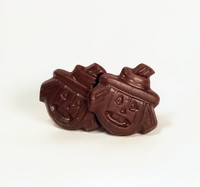Scary Pumpkin Heads - A Pair of Solid Chocolate - Lb 0.090