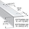 Single Angle Corner Rivet Holes Extrusion - 6.5 ft.