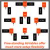 Table Leg Assembly / Folding/overlap