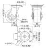 "Xtra Heavy Duty Caster / 4"" (100mm) / Swivel / With Brake"