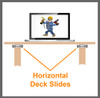 Standard Duty DJ Laptop Horizontal Deck Slides