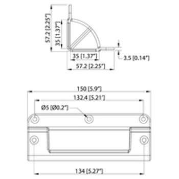Edge Handle  / Recessed /  Tight Edge Radius for over Angle