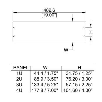 Rack Panel Flat