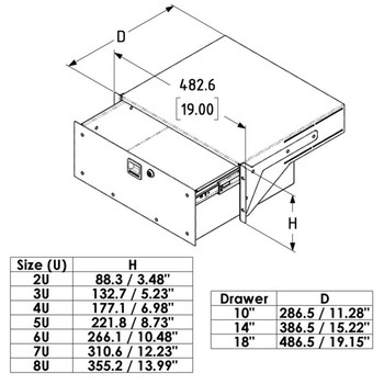 Rack-mount Drawer Touring Grade Heavy Duty