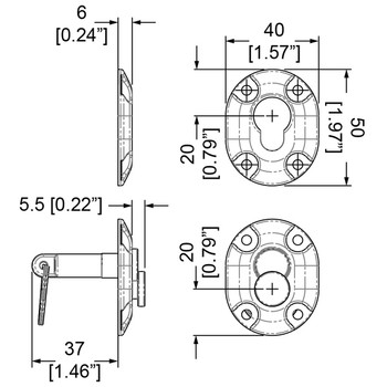 Table Mounting Latch Female