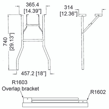 R1603 is equipped with an extension bracket that allows it to overlap R1602 once folded to save space.