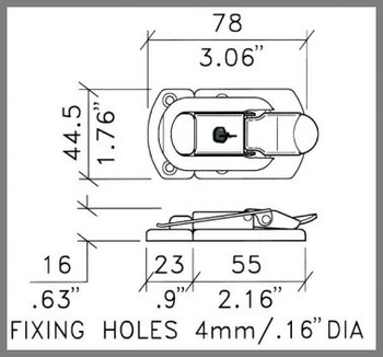 Draw Latch /  Surface-mount / Standard / Locking