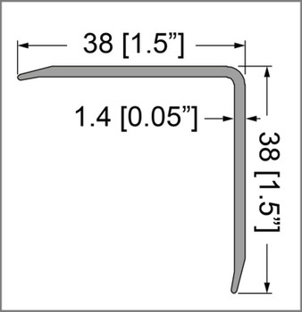 Single Angle Corner Extrusion Pre-punched/1.5 /6ft