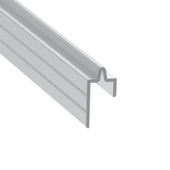 """3100 3/8"""" Groove Extrusion Male - 12 ft. Cut in Half"""