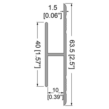 "3/8"" 9mm Panel Joiner Extrusion - 79"""