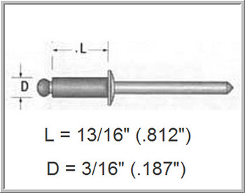 "3/8"" & 1/2"" Case Wall Rivet  / *See Product Description"