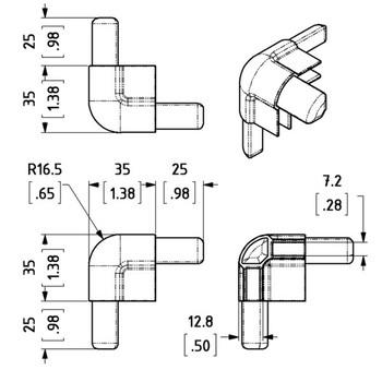 Standard 3-Leg Corner / Black