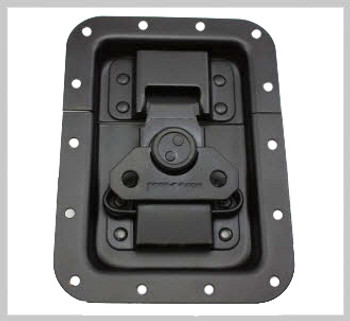 Latch / Large / Recessed / Black