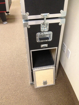 2 cases connected while stacked (and stationary) to provide stability for the upper case. NOT to be used for stacking cases while in transit or being moved.