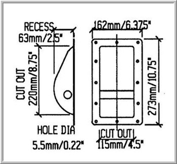 Cabinet Handle / Large /  Recessed